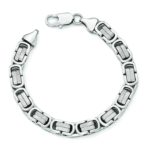 Chisel Stainless Steel Polished and Textured Men's 8.25 Inch Bracelet