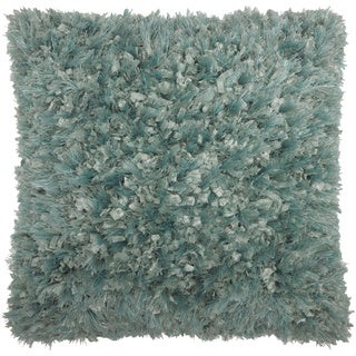 Mina Victory Shag Celadon Throw Pillow by Nourison (20 x 20-inch)