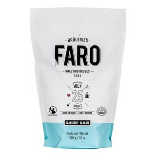 Faro Classic July 25 2-pound Fair Trade, Single Farm, Certified Organic Whole Coffee Beans