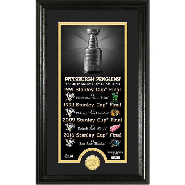 """Pittsburgh Penguins """"Legacy"""" Bronze Coin Photo Mint"""