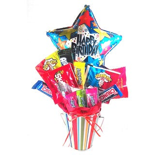 Happy Birthday Stars Candy Bouquet