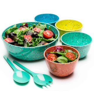 Confetti Tropics 7-piece Salad Set With Servers