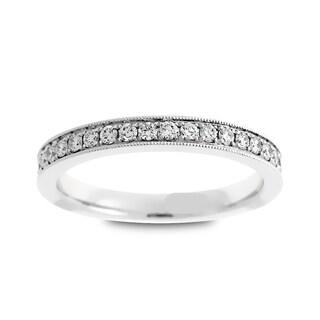 Azaro 14k White Gold 1/2ct TDW Round Diamond Eternity Wedding Band