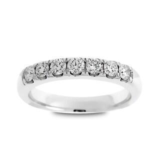 Azaro Jewelry 14k White Gold 1/2ct TDW Round Diamond Wedding Band