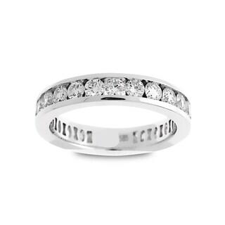 Azaro Jewelry 14k White Gold 1 1/2ct TDW Round Diamond Eternity Wedding Band (G-H, SI1-SI2)