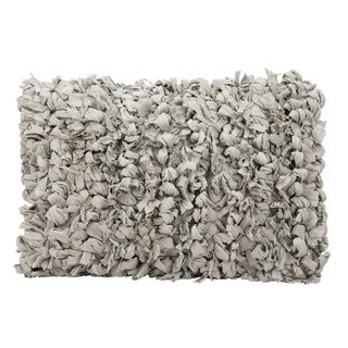 The Curated Nomad Chirezza Shag Loop Grey Throw Pillow