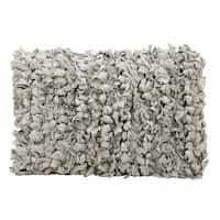 Maison Rouge Cyrus Shag Loop Grey Throw Pillow (14 x 20)