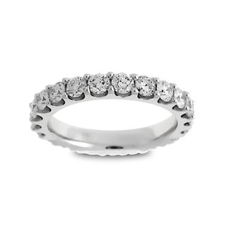 Azaro Jewelry 14k White Gold 2ct TDW Round Diamond Eternity Wedding Band (G-H, SI1-SI2)