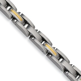 Versil Stainless Steel Gold 14 karat 8-inch Bracelet