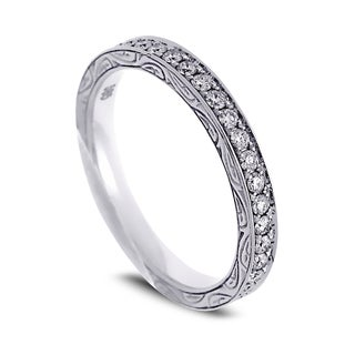 Azaro Jewelry 14k White Gold 1/2ct TDW Round Diamond Eternity Wedding Band (G-H, SI1-SI2)
