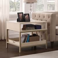 Silver Orchid Moonlight 28-inch Accent Table