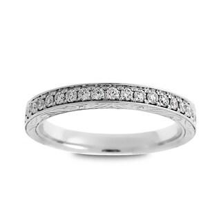 Azaro 14k White Gold 1/4ct TDW Round Diamond Halfway Wedding Band (G-H, SI1-SI2)