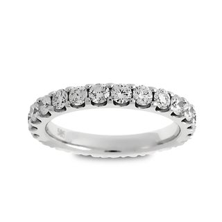 Azaro Jewelry 14k White Gold 1 1/2ct TDW Round Diamond Eternity Wedding Band