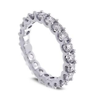 Azaro Jewelry 14k White Gold 2ct TDW Round Diamond Eternity Wedding Band