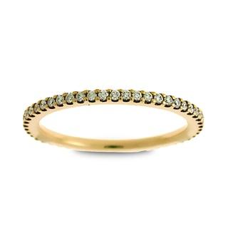 Azaro Jewelry 14k Yellow Gold 1/3ct TDW Round Diamond Eternity Wedding Band