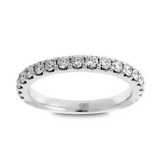 Azaro Jewelry 14k White Gold 1ct TDW Round Diamond Eternity Wedding Band (G-H, SI1-SI2)