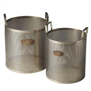 Butler Cannes Iron Storage Baskets (Set of 2)