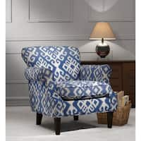 Havenside Home Ossabaw Upholstered Arm Chair with Espresso-finished Wood Legs