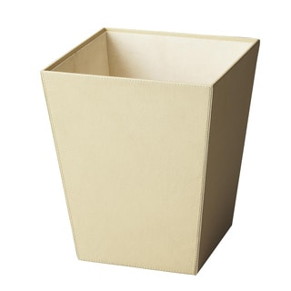 Butler Lido Beige Leather Storage Basket