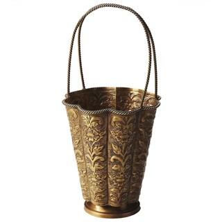 Butler Clara Antique Brass Decorative Basket