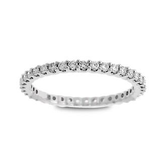 Azaro Jewelry 14k White Gold 1/2ct TDW Round Diamond Eternity Wedding Band