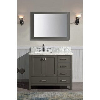 Bella Grey 36-inch x 34.5-inch x 22-inch Single Bathroom Vanity Set with Mirror
