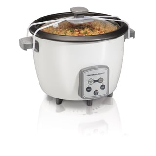Hamilton Beach White 16 Cup  Digital Rice Cooker