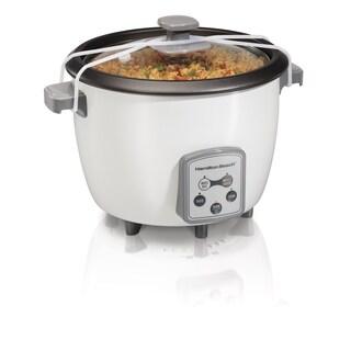 Hamilton Beach White 16 Cup Digital Rice Cooker