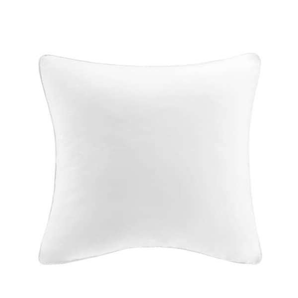 Echo Design Crete White Solid Cotton 26 x 26-inch European Sham with Hidden Zipper Closure