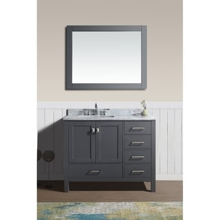 Bella Grey 42-inch x 34.5-inch x 22-inch Single Bathroom Vanity Set with Mirror