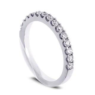 Azaro Jewelry 14k White Gold 1/2ct TDW Round Diamond Halfway Wedding Band (More options available)