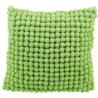 Mina Victory Pom Collection Green Throw Pillow by Nourison (20-Inch X 20-Inch)