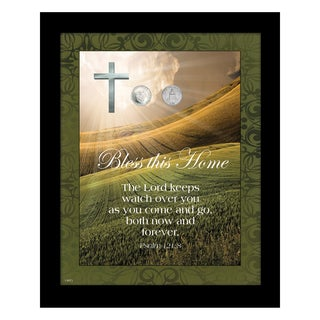 American Coin Treasures 'Bless This Home' Vatican Pope Coin Framed Wall Art