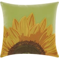 Mina Victory Indoor/ Outdoor Sunflower Green Throw Pillow by Nourison (18-Inch X 18-Inch)