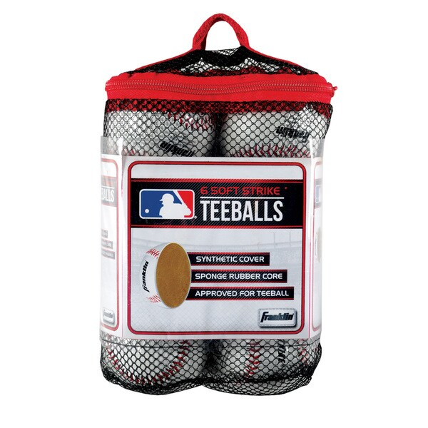 76b0c72b0cf Shop Franklin Sports MLB Soft Strike Teeballs (Pack of 6) - Free Shipping  On Orders Over  45 - Overstock.com - 12032650