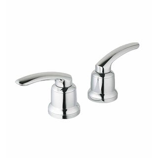 Grohe Talia Silver Brass and Metal Lever Faucet Handles