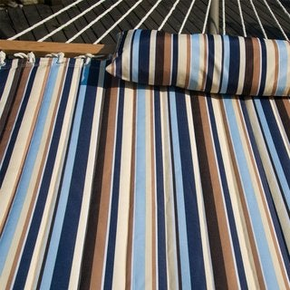Prime Garden Polyester Quilted Double Fabric Hammock with Hardwood Spreader Bars and Pillow
