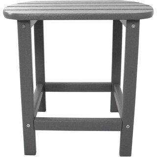 Hanover Outdoor HVSBT18GY Grey All-Weather Side Table
