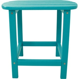 Hanover Outdoor HVSBT18AR Aruba Turquoise HDPE All-weather Side Table