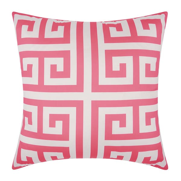 Hot Pink Outdoor Throw Pillows : Mina Victory Indoor/ Outdoor Greek Key Hot Pink Throw Pillow (1 8 x 1 8) - Free Shipping On ...