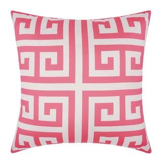 Mina Victory Indoor/ Outdoor Greek Key Hot Pink Throw Pillow by Nourison (20 x 20-inch)