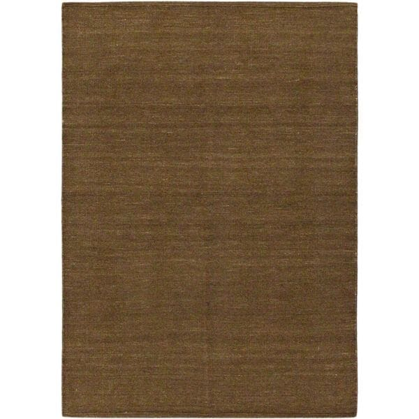 eCarpetGallery Natural Brown Hand-woven Wool Kilim (4'8 x 6'6)