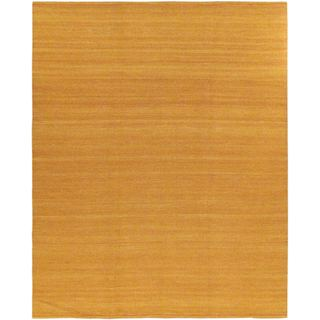 eCarpetGallery Hand-Woven Natural Orange Wool Kilim (7'10 x 9'10)