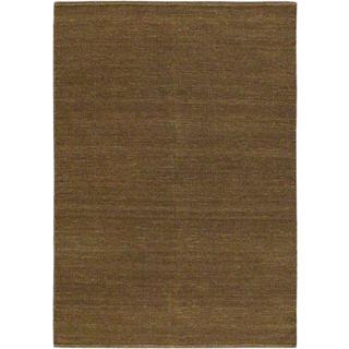 eCarpetGallery Hand-woven Natural Brown Wool Kilim (4'8 x 6'8)