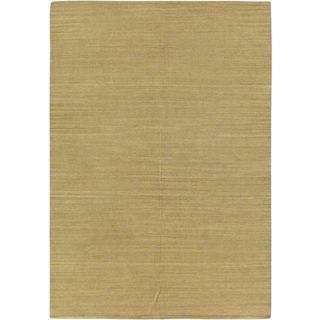 ecarpetgallery Natural Ivory Wool Handwoven Kilim (5'7 x 7'10)