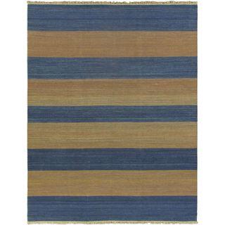 ecarpetgallery Fiesta Blue Wool Hand-woven Kilim (7'10 x 7'10)