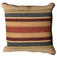 Mina Victory Nourmak Stripe Rust Throw Pillow by Nourison (20-Inch X 20-Inch)