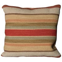 Mina Victory Nourmak Stripe Multicolor Throw Pillow by Nourison (20 x 20-inch)