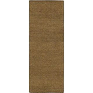 ecarpetgallery Natural Brown Handwoven Wool Kilim (2'5 x 6'5)