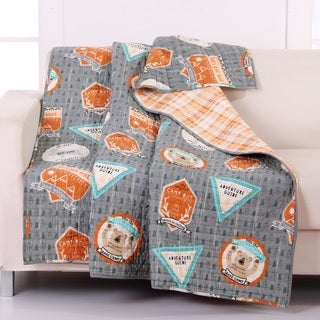 Greenland Home Fashions Camp Out Quilted Reversible Throw